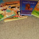 Walt Disney books set : The Lion King, Pinocchio Ages 4-8, English, Hardcover