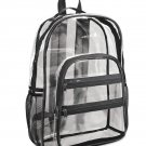 Clear plastic backpack - Valubag Brand New Black See Through Security Plastic