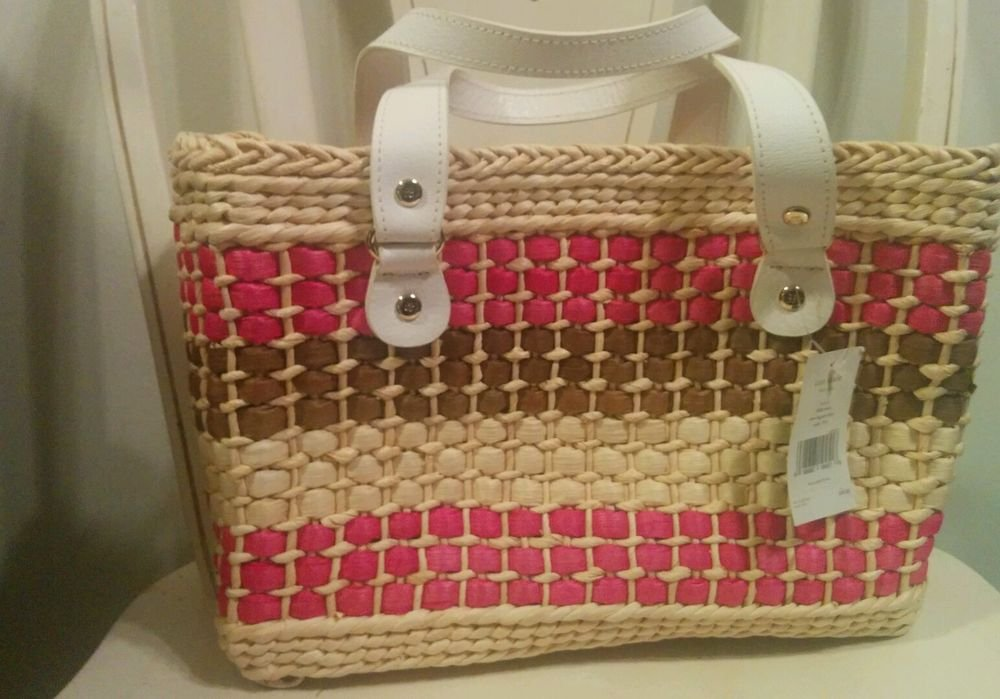 Kate Spade New York  Basket Tote Bag Straw D13.5cm, H22.5, Multi - Hand Bags