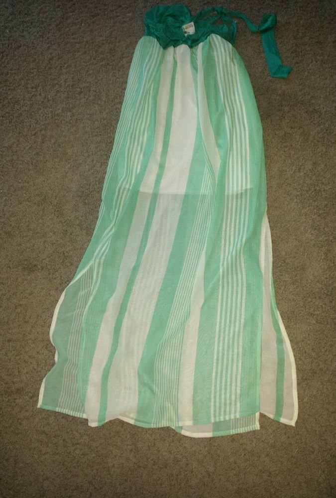 Rachel kate  Maxi Deress L Grande (Green) Full-Length, Halter, Polyester, Summer