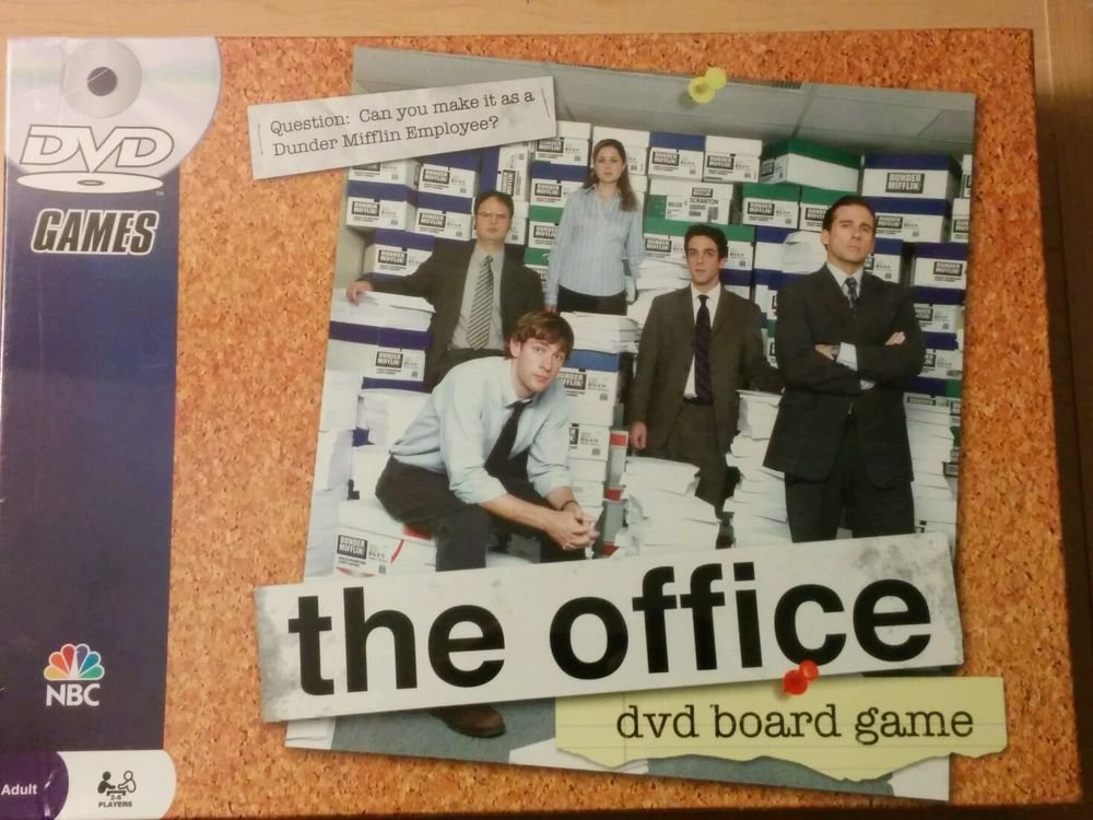 """The Office Game : TV Series Based DVD Board Game New  Sealed NBC """"SAVE NOW"""""""