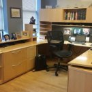 "Gunlocke commercial office desk suite ( U shaped desk) Minneapolis ""SAVE NOW"""