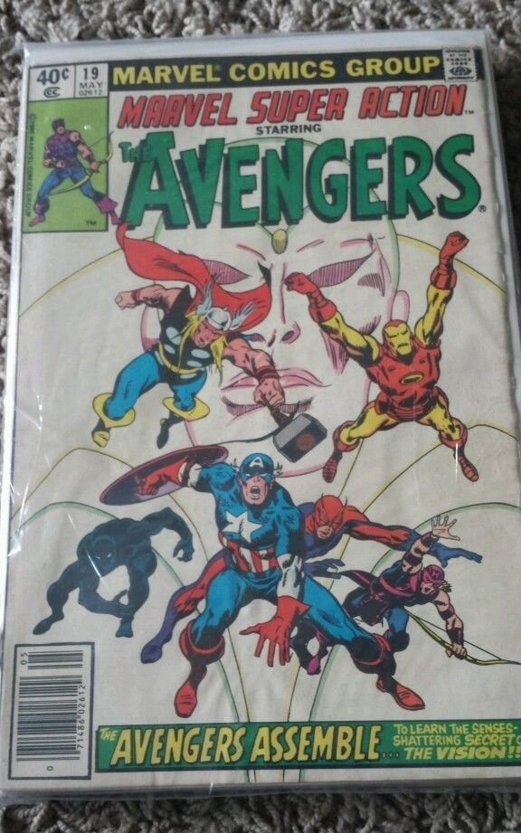 1977 Series Marvel Super Action Starring The Avengers