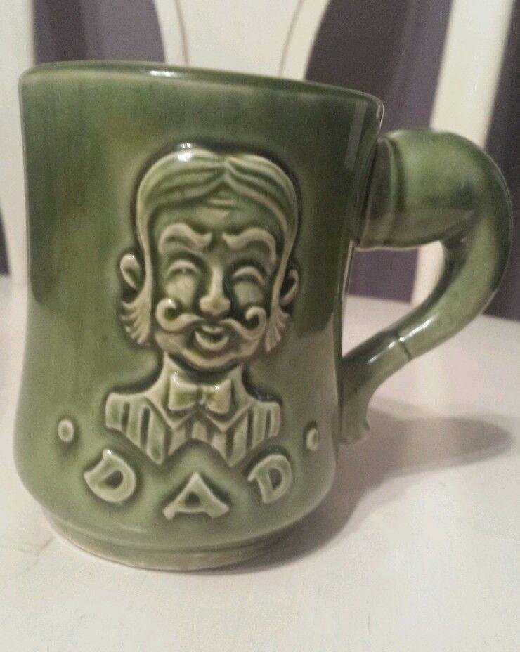Vintage coffee cup mug green dad Japanese : Vintage coffee mugs