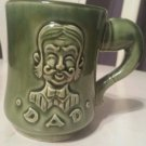 Vintage coffee cup mug green dad Japanese : Vintage coffee mugs