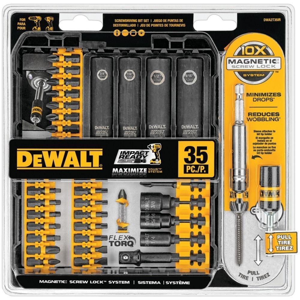 DEWALT DWA2T35IR IMPACT READY FlexTorq Screw Driving Set, 35-Piece by DEWALT