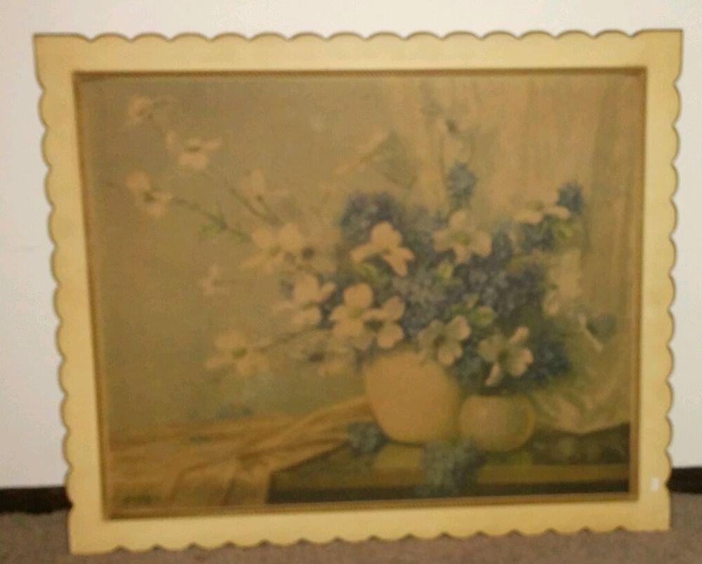 Oil Painting by Phil Greer Wild flowers Vintage Phil Greer Floral & Gardens