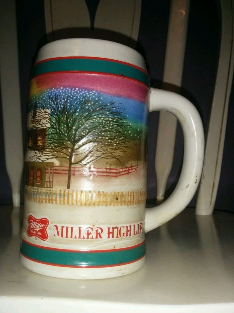 Miller HIGH LIFE Beer Stein Christmas To The Best Holiday Traditions Collectors