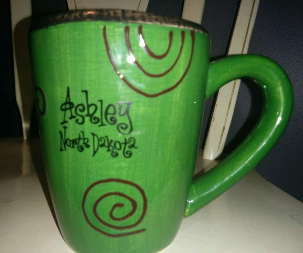 Ashley North Dakota mug green coffee cup