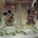 Mickey Mouse Collectible Glass Walt Disney Hollywood Vine Studios 2000 Mugs