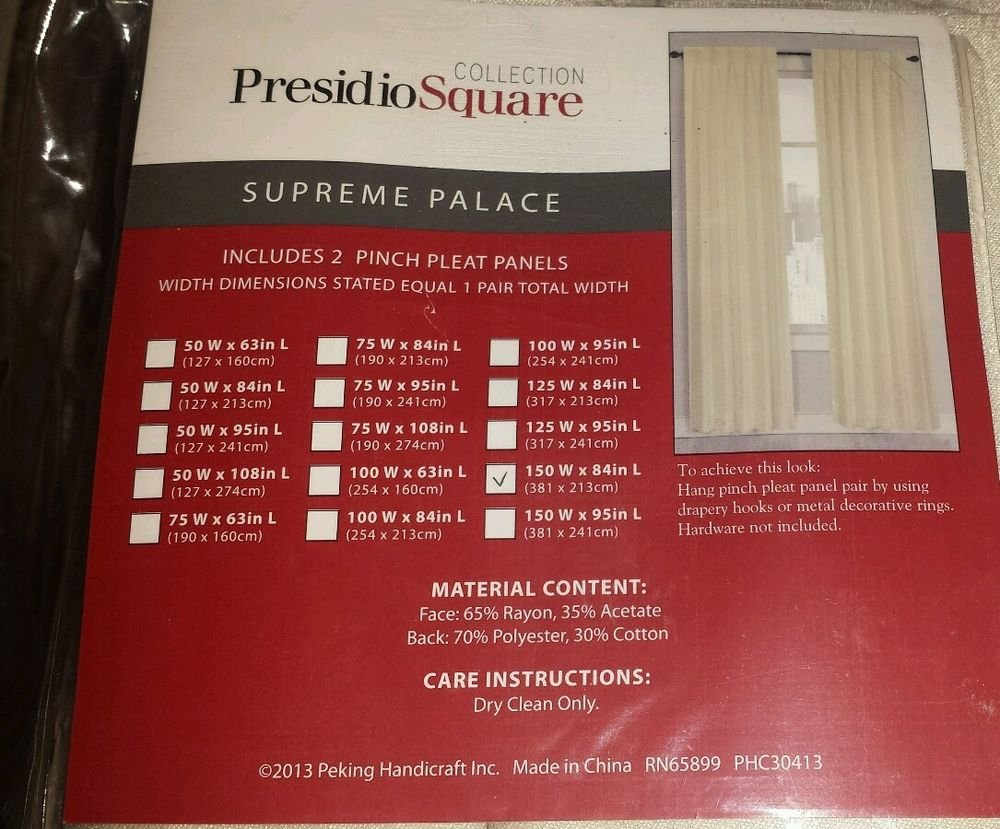 Supreme palace  Collection Presidio Square 81'' - 90'', Face, Hollywood Regency,