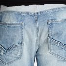 NEW MENS GUESS SLIM STRAIGHT IN BURN OUT WASH DESTROYED LIGHT JEANS 38 X 32 $128