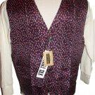 Medium BOGARi Studio Mens 100% Silk Casual Vest Washable Abstract Print Multi Color