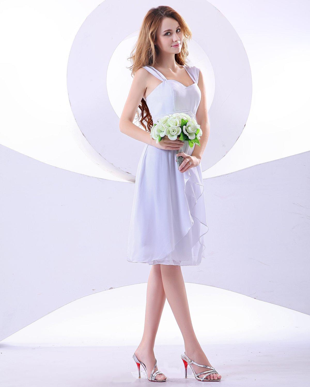 Sweetheart Knee-Length Chiffon Bridesmaid Dress