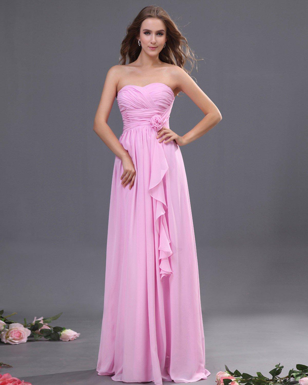 Chiffon Ruffle Floor Length Bridesmaid Dresses