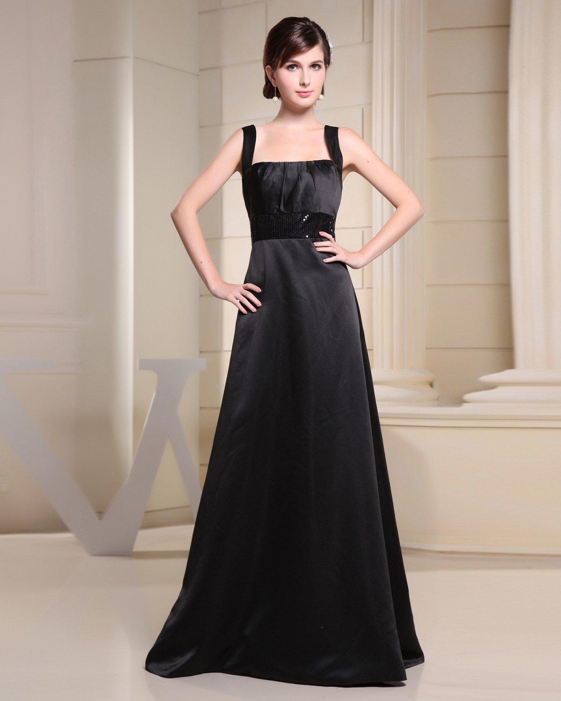 Spaghetti Straps Zipper Paillette Floor length Chiffon Silk Charmeuse Sleeveless Woman Bridesmaid Dr