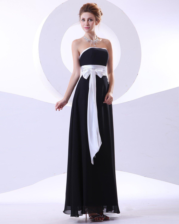 Charming Chiffon Sash Strapless Floor Length Bridesmaid Dresses