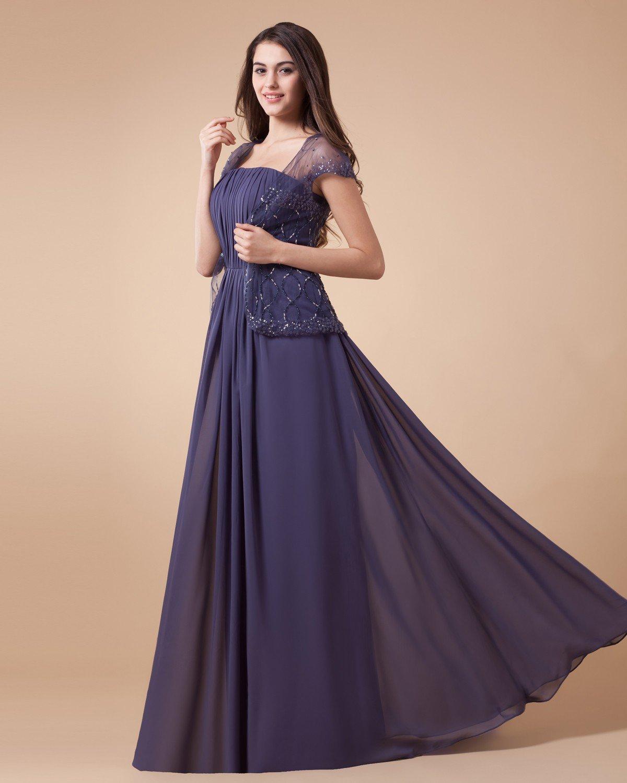 Appliques Empire Floor Length Mothers Special Guests Dresses Set 2Pcs