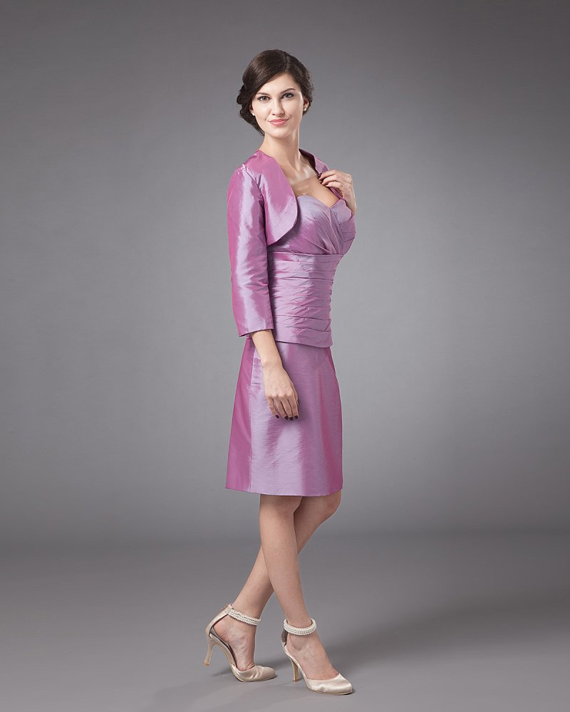 Gorgeous Sweetheart Knee Length Taffeta Mother of the Bride Dress