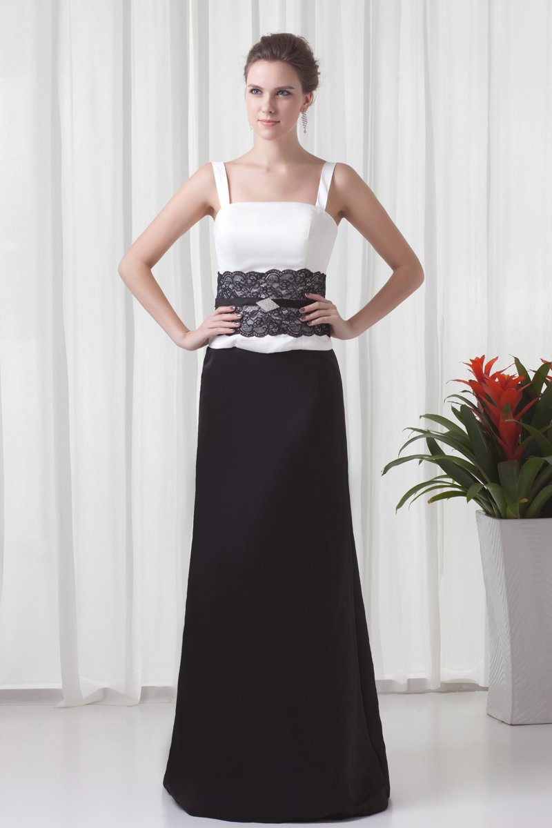 Shoulder Straps Floor length Beading Satin Mother of the Bride Dress