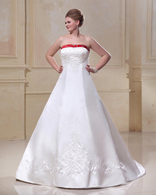 Satin Applique Halter Court Floor Length Plus Size Bridal Gown Wedding Dresses