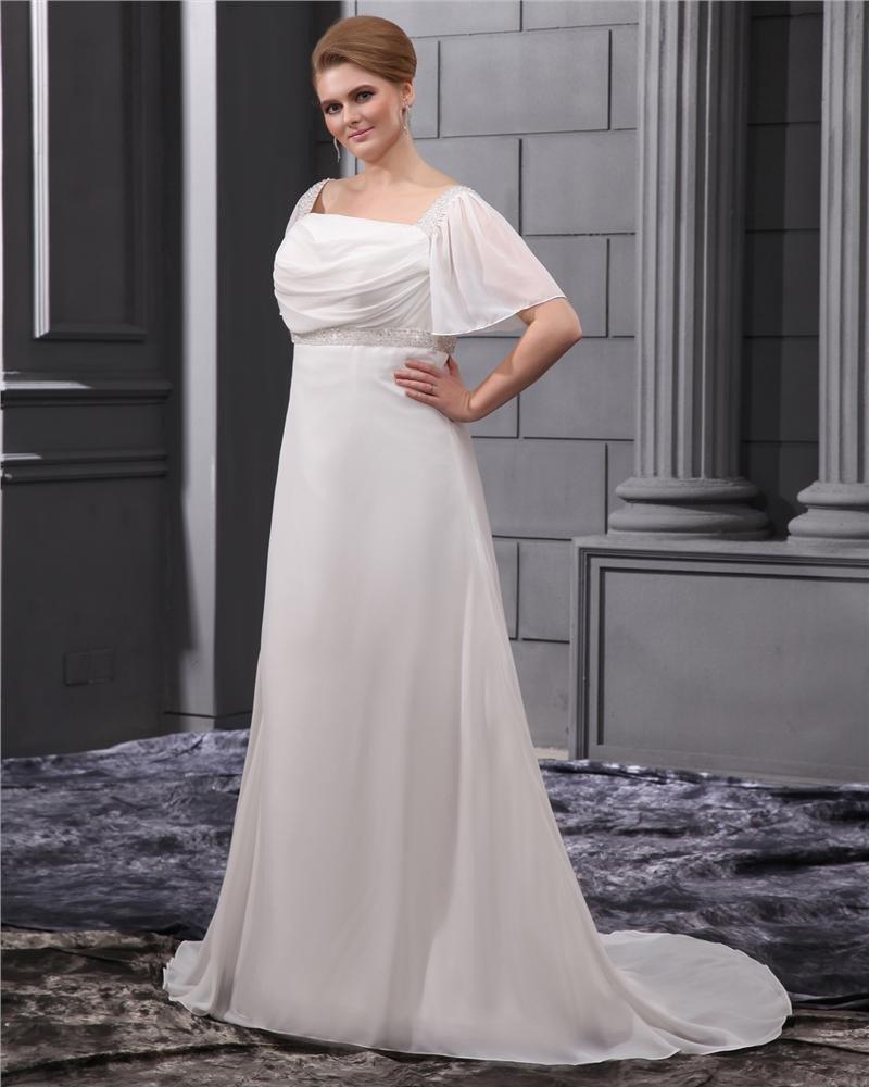 Beading Sash Court Plus Size Bridal Gown Wedding Dress