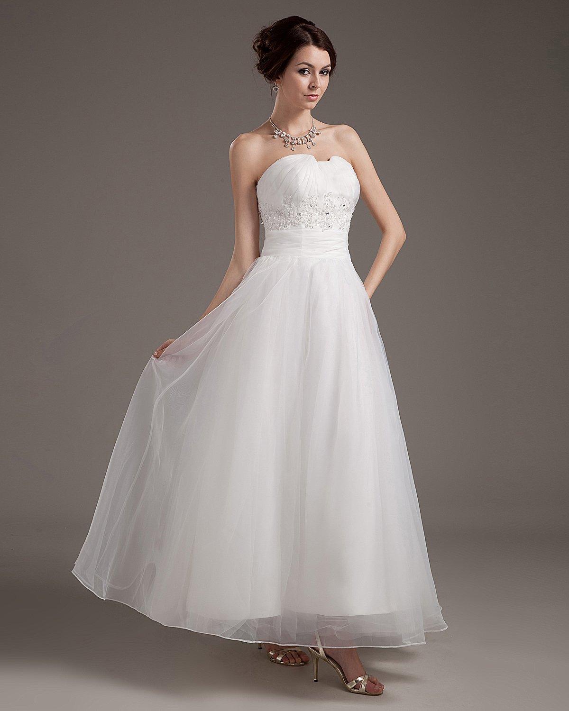 Satin Organza Bead Mini Wedding Dresses
