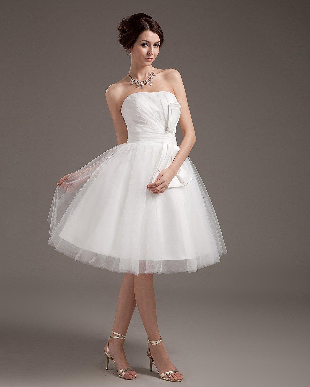 Yarn Ruffle Short Bridal Gown Wedding Dress