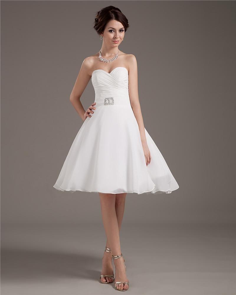 Taffeta Yarn Short Bridal Gown Wedding Dress