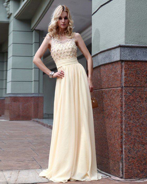 Silk Pleated Shoulder Straps Floor Length Evening Dresses