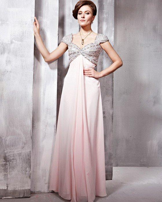 Tulle Chiffon Charmeuse Beading Sweetheart Floor Length Evening Dresses