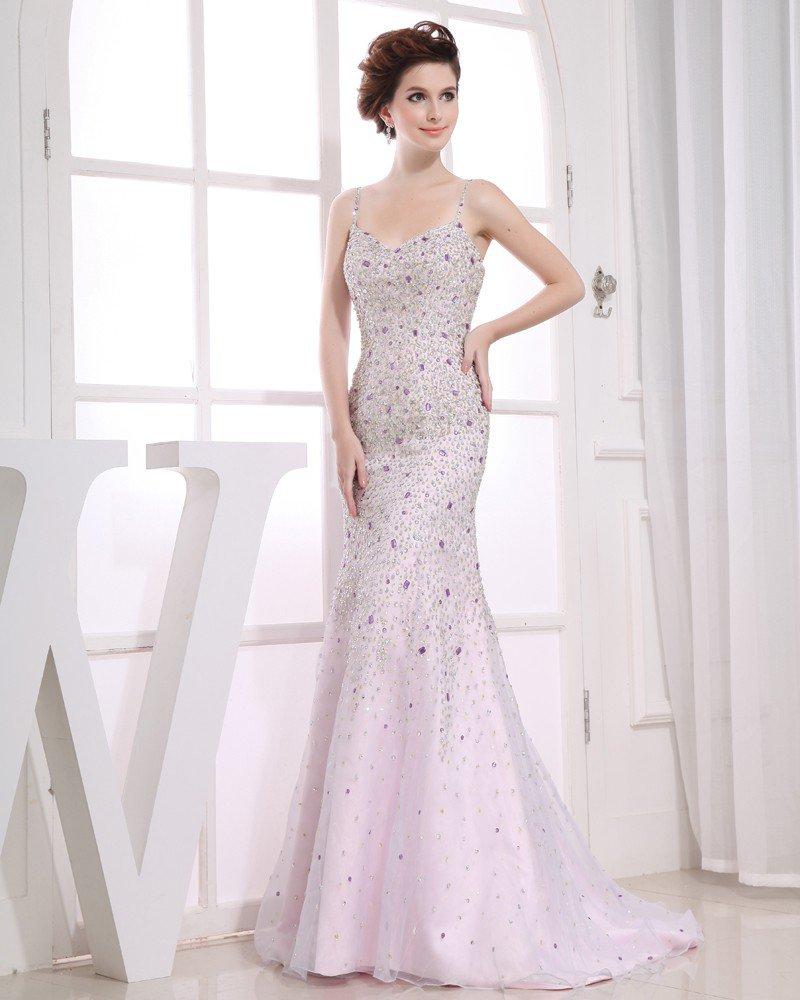 Sweetheart Sleeveless Zipper Beading Floor Length Organza Elastic Silk Like Satin Silk Woman Evening