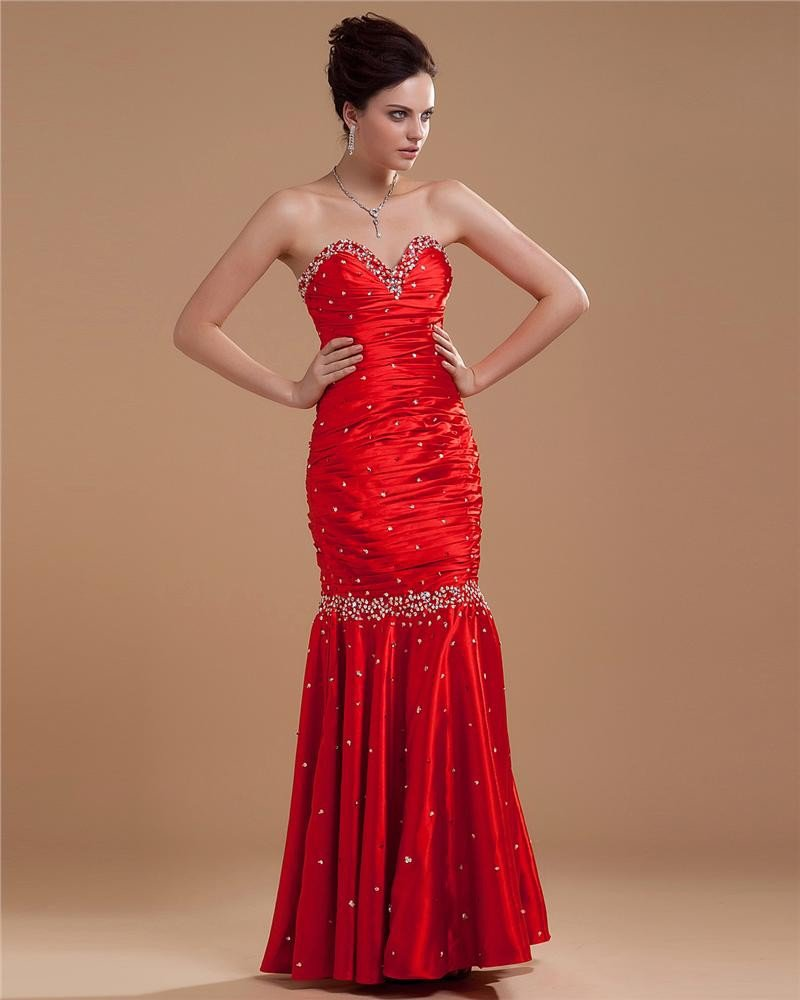 Sweetheart Mermaid Long Floor-Length Womens Evening Dresses