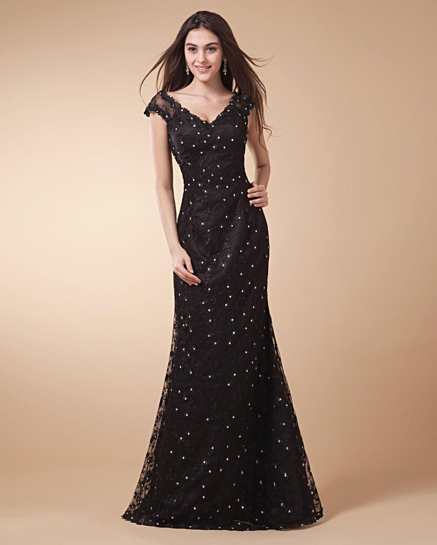 V Neck Beading Sleeveless Zipper Floor Length Satin Woman Evening Dresses