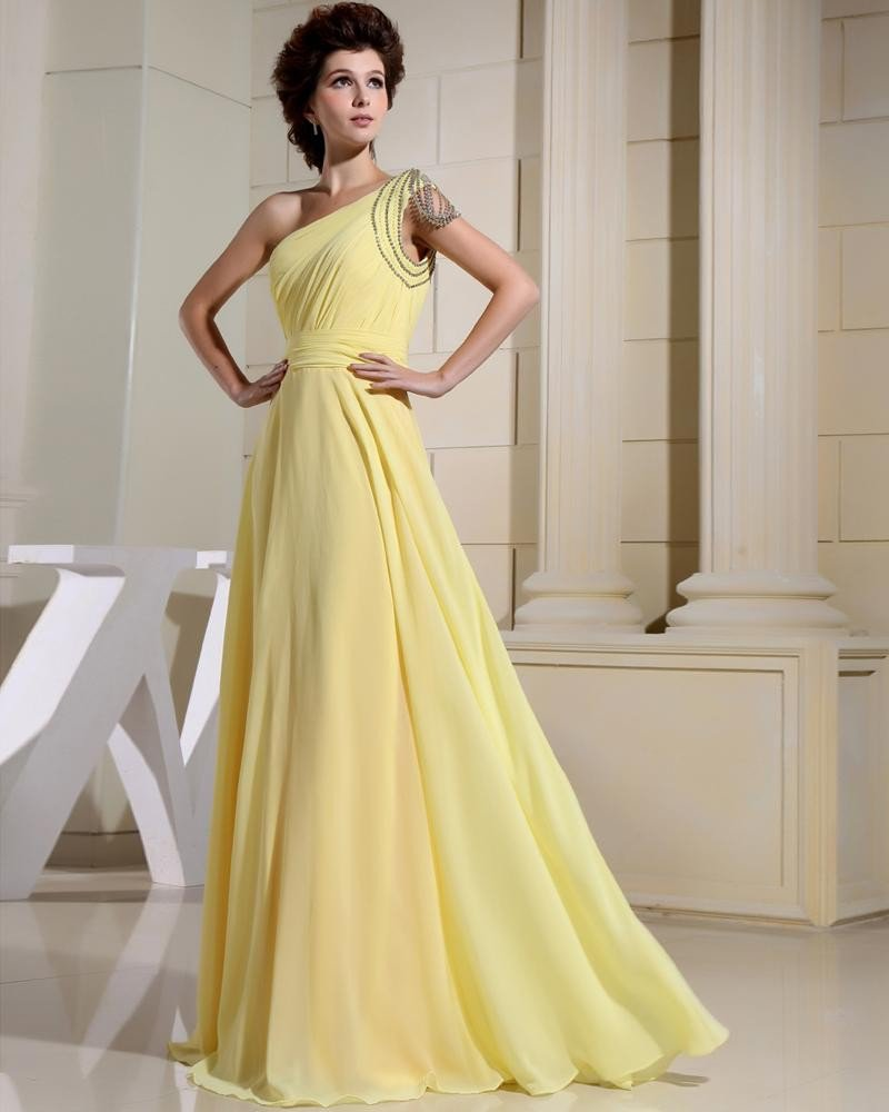 Chiffon Elastic Silk Like Satin Silk Rhinestone Pleated Floor Length Backless Sleeveless Woman Eveni