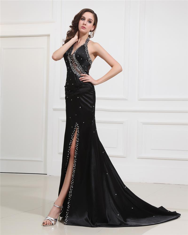 Sweetheart Halter Floor-Length Evening Dresses NSE-012