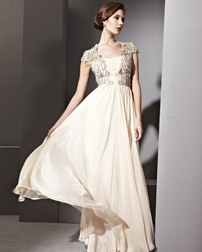 Floor Length Lace Tencel Sabrina Sleeveless Evening Dresses