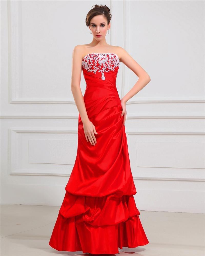Sheath Sweetheart Floor Length Taffeta Ruffles Women's Evening Dress