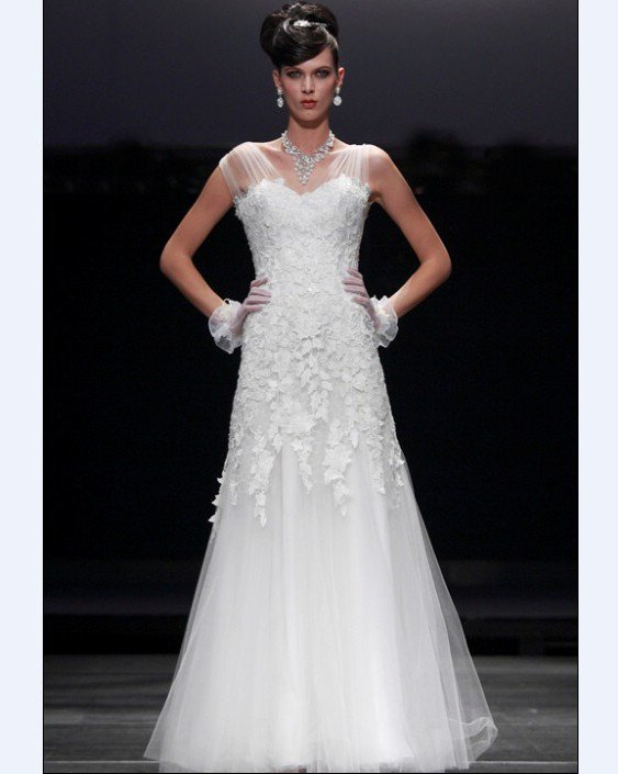 Empire V Neck Sleeveless Floor Length Bead Embroidery Chiffon Satin Evening Dresses