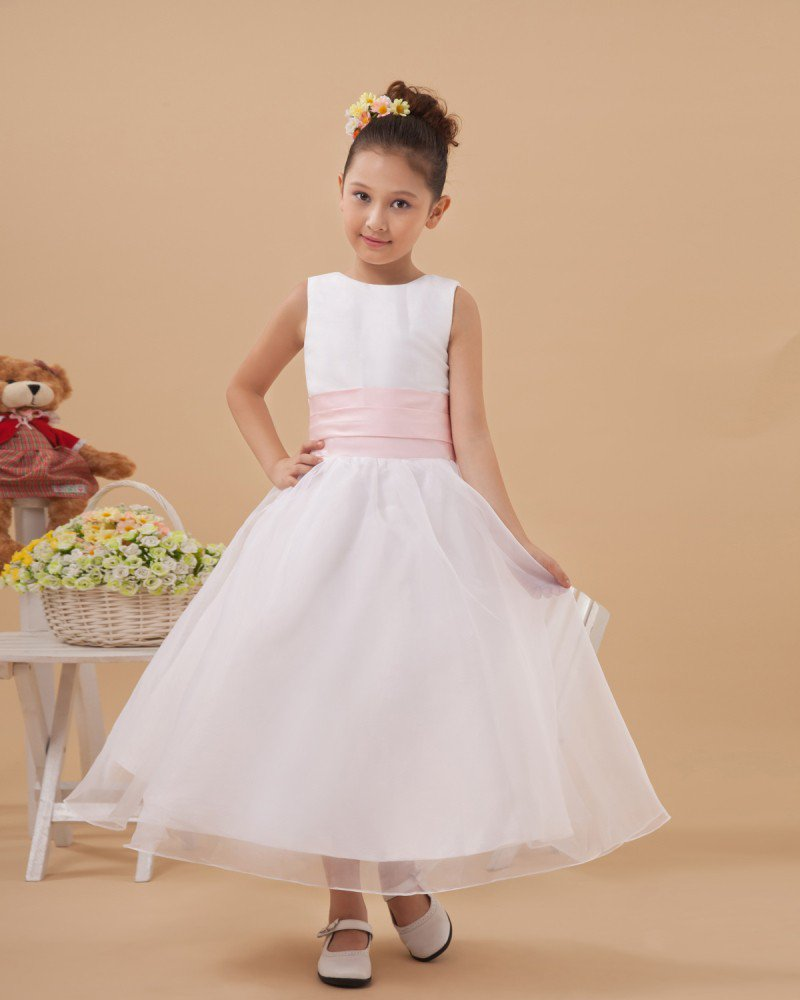 Beautiful Satin Organza Handmade Flower Girl Dresses 2214120008