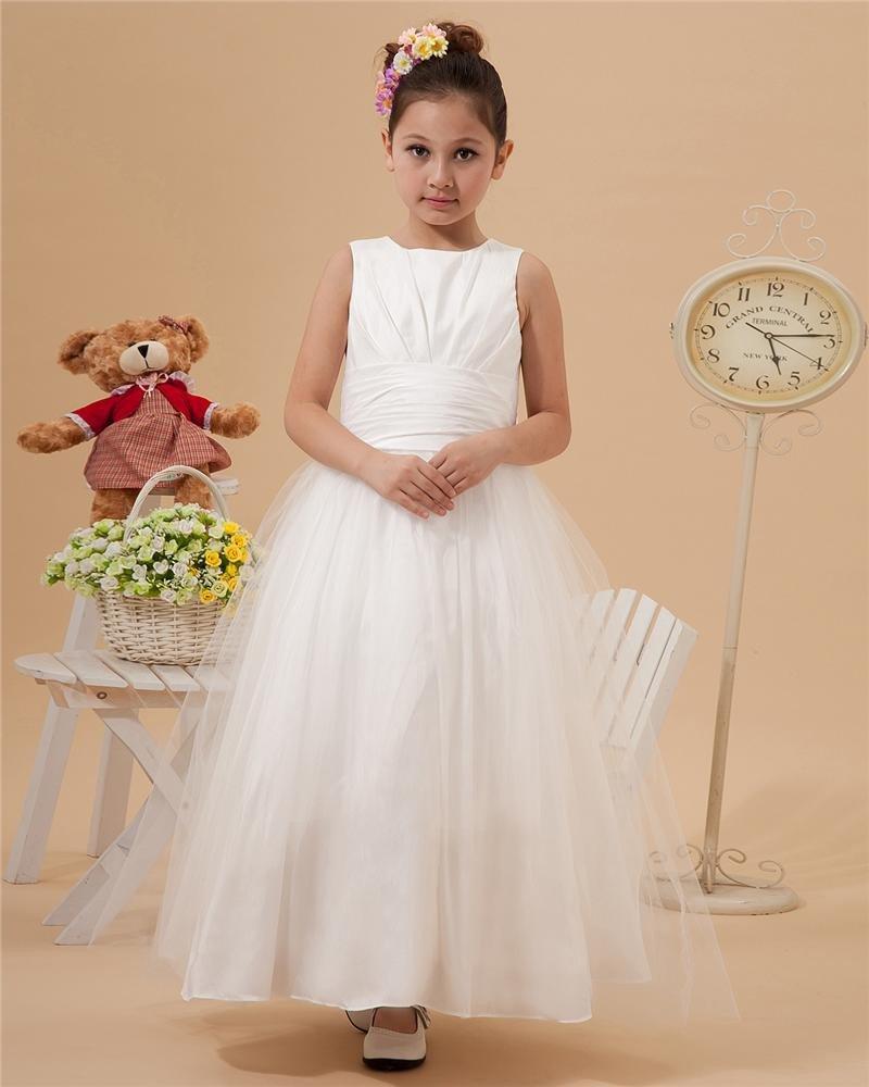 Beautiful Floor-length Taffeta Organza Flower Girls' Dress 2214120006