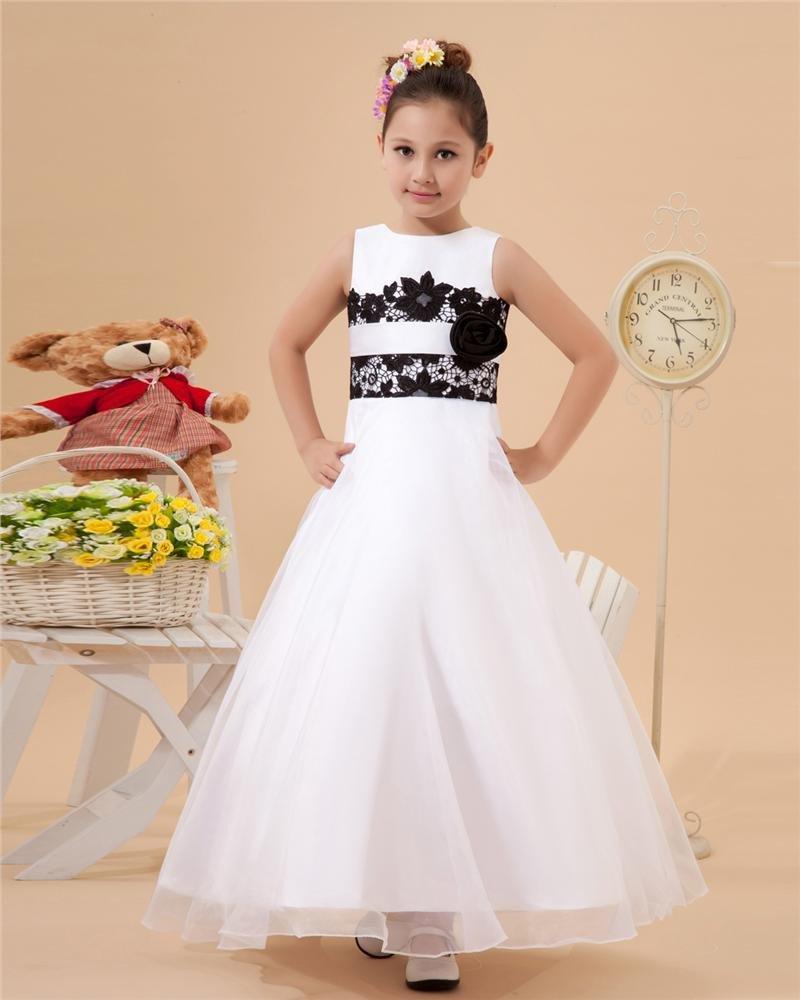 Satin Tulle Lace Handmade Flower Girl Dresses 2214120066
