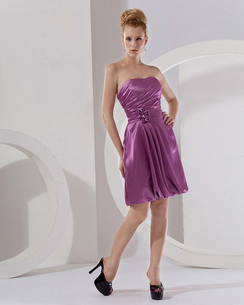 A-Line Sweetheart Knee-length Taffeta Graduation Dresses