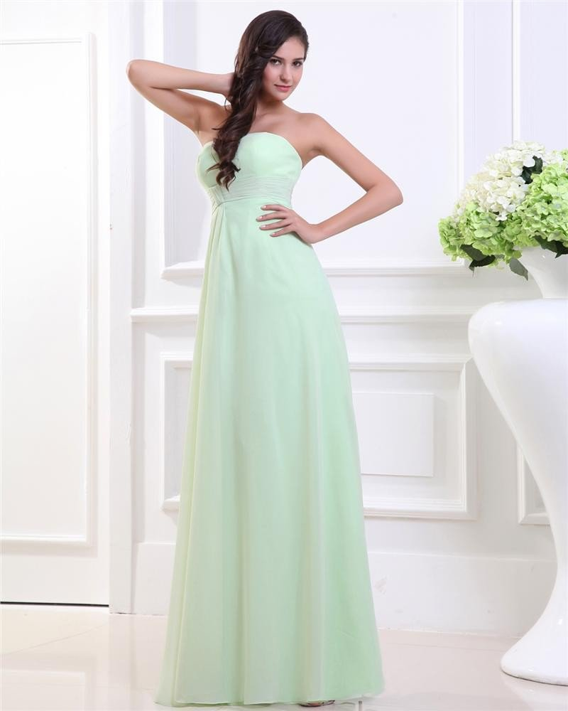 Strapless Chiffon Evening Party Dresses
