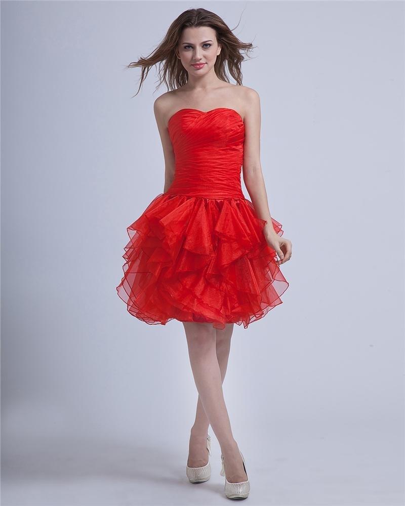 Sheath Sweetheart Knee-Length Lace-up yarn Little Black Party Dress