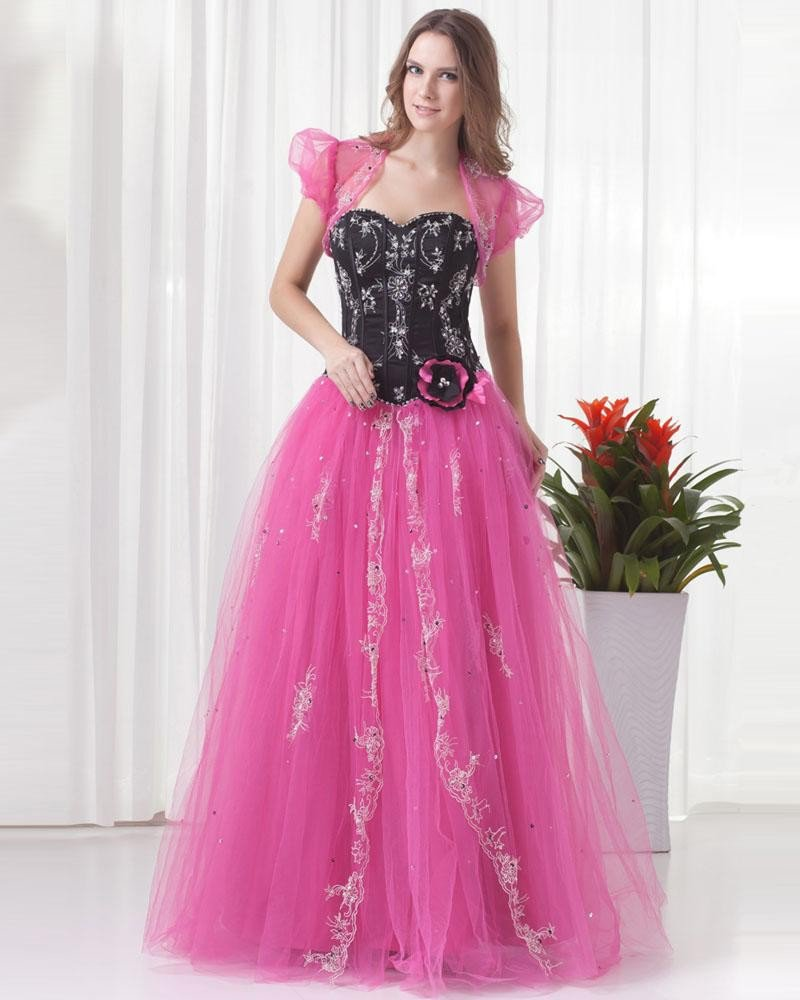 Ball Gown Beautiful Beading Embroidery Floor Length Flower Decoration Sweetheart Tulle Quinceanera P