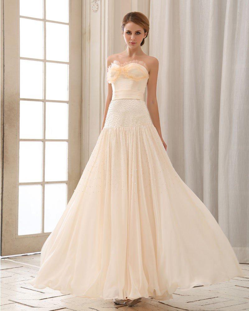 Stylish Floor Length Beading Beading Chiffon Prom Dresses