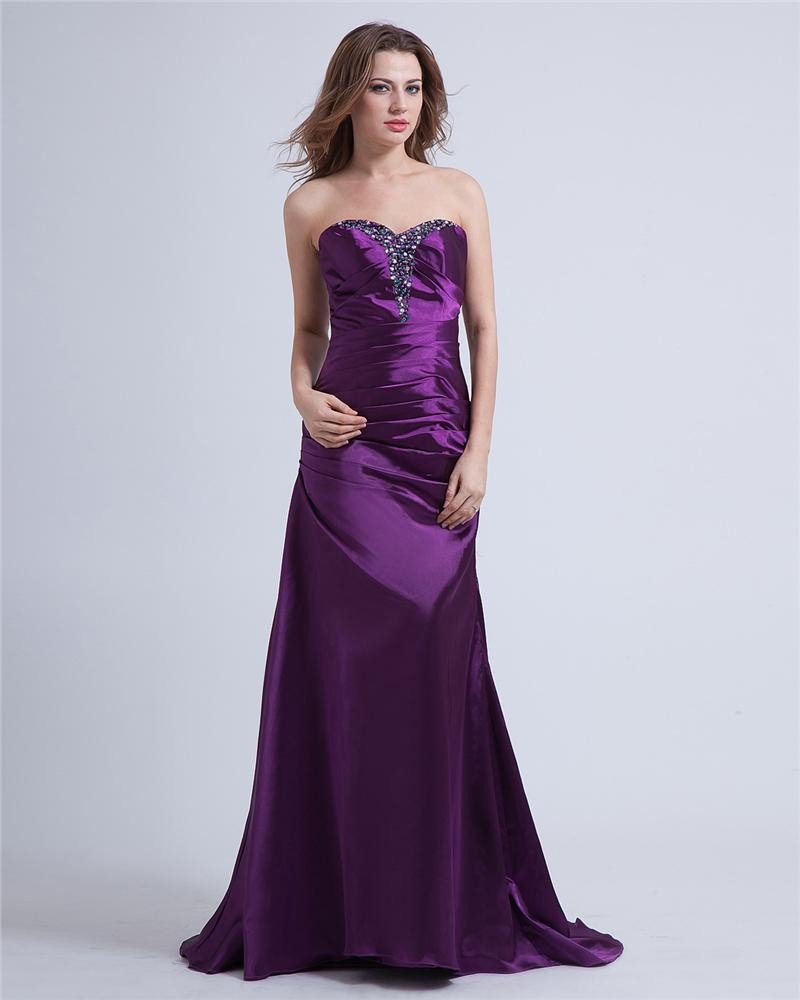 Taffeta Sweetheart Floor Length Prom Dresses