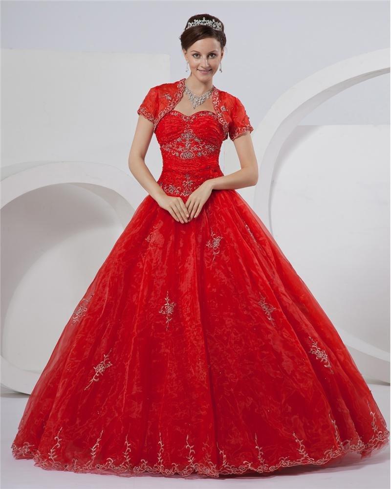 Ball Gown Satin Princess A Line Bridal Wedding Prom Dress Gown