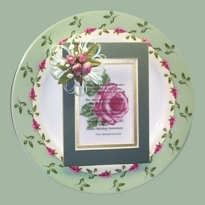 The Rose Garden a Stoneware Plate